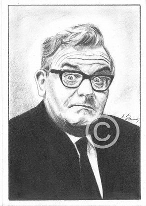 Ronnie Barker Pencil Portrait