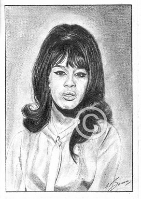 Ronnie Spector Pencil Portrait