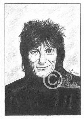 Ronnie Wood Pencil Portrait