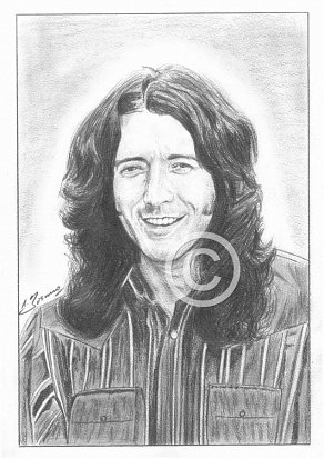 Rory Gallagher Pencil Portrait