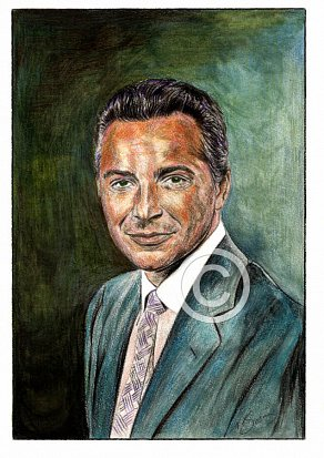 Rossano Brazzi Pencil Portrait