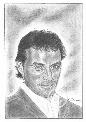 Rufus Sewell Pencil Portrait