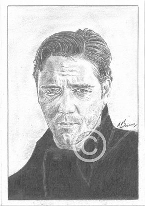 Russell Crowe Pencil Portrait