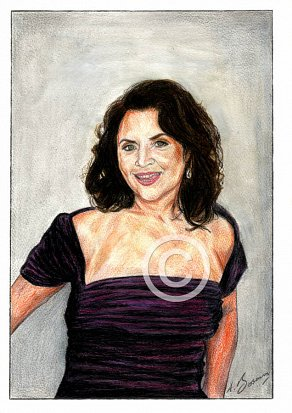 Ruth Jones Pencil Portrait