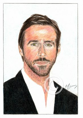 Ryan Gosling Pencil Portrait