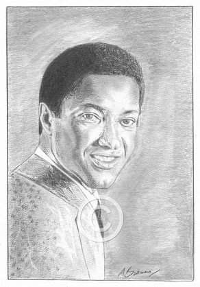 Sam Cooke Pencil Portrait