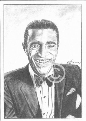 Sammy Davis Jnr Pencil Portrait