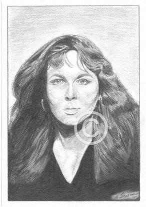 Sandy Denny Pencil Portrait