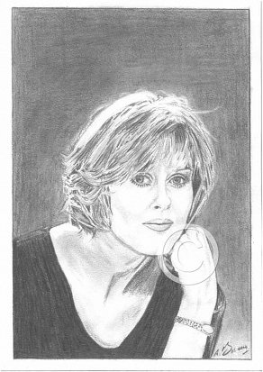 Sarah Lancashire Pencil Portrait