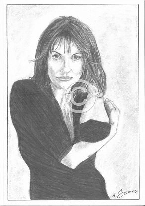 Sarah Parish Pencil Portrait