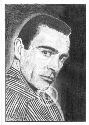 Sean Connery Pencil Portrait