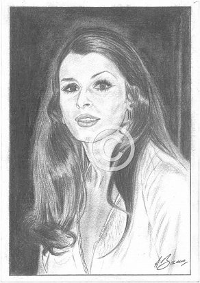 Senta Berger Pencil Portrait