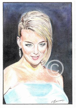 Sheridan Smith Pencil Portrait