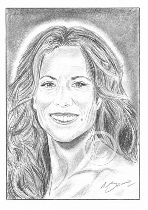 Sheryl Crow Pencil Portrait