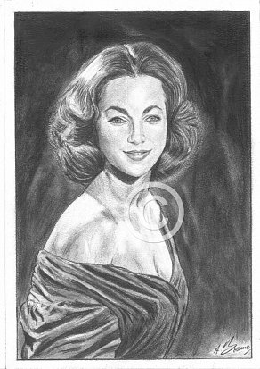 Shirley Anne Field Pencil Portrait