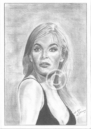 Shirley Eaton Pencil Portrait