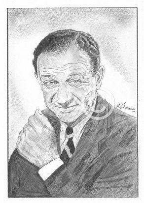 Sid James Pencil Portrait