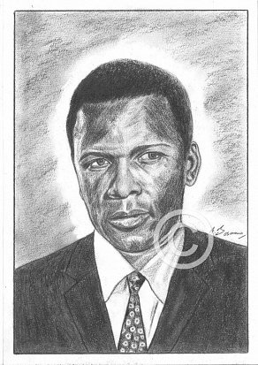 Sidney Poitier Pencil Portrait