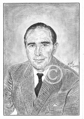 Sir Alf Ramsey Pencil Portrait