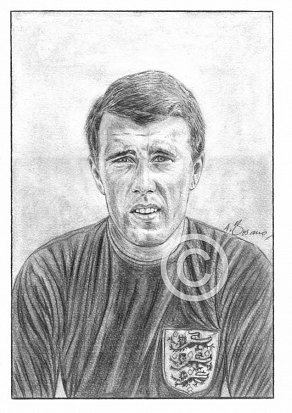 Sir Geoff Hurst Pencil Portrait