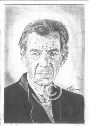 Sir Ian McKellen Pencil Portrait