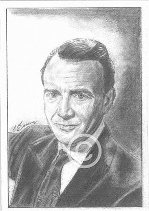 Sir John Mills Pencil Portrait