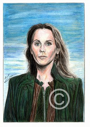 Sofia Helin Pencil Portrait