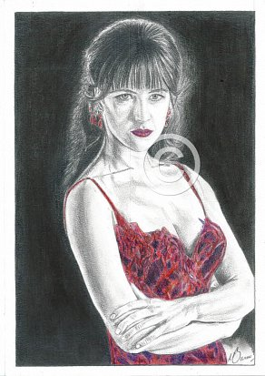Sophie Marceau Pencil Portrait