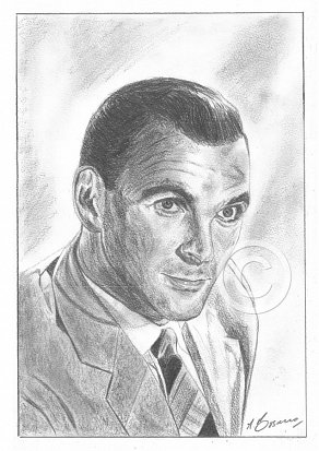 Stanley Baker Pencil Portrait