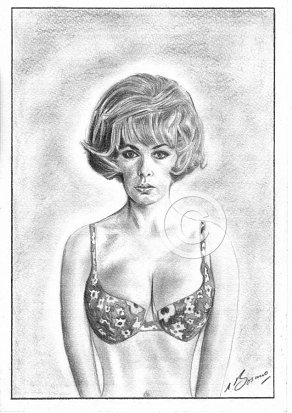 Stella Stevens Pencil Portrait