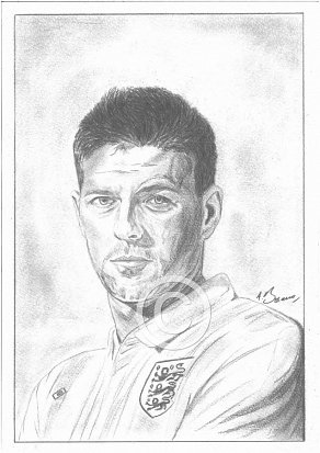 Steven Gerrard Pencil Portrait