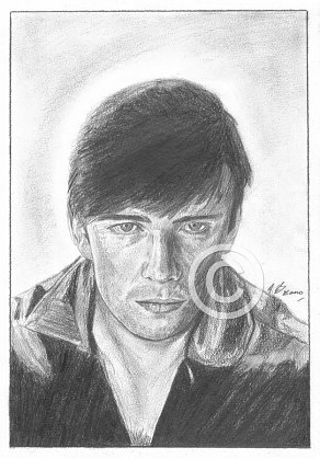 Stuart Sutcliffe Pencil Portrait
