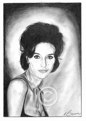 Sue Lloyd Pencil Portrait