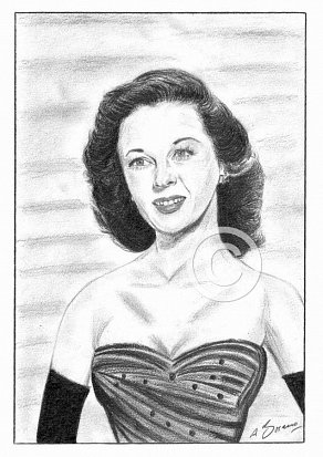 Susan Hayward Pencil Portrait