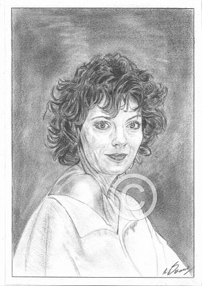 Susan Sarandon Pencil Portrait