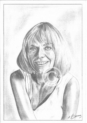 Susannah York Pencil Portrait