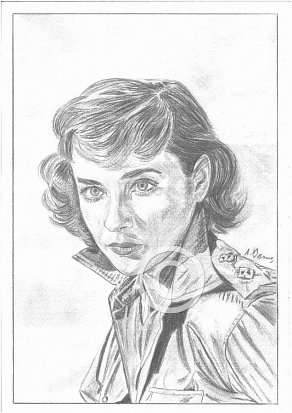 Sylvia Syms Pencil Portrait
