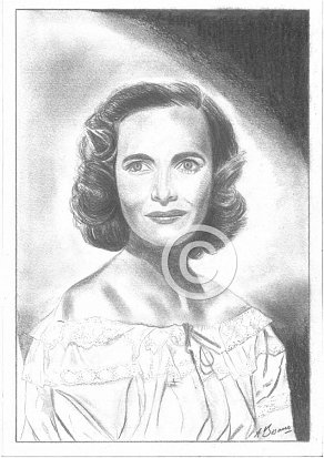 Teresa Wright Pencil Portrait