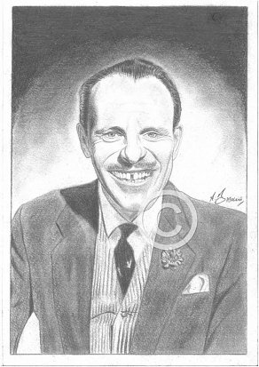 Terry Thomas Pencil Portrait