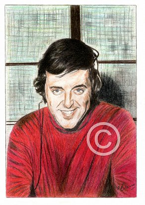 Terry Wogan Pencil Portrait