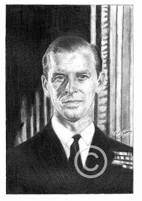 The Duke of Edinburgh Pencil Portrait