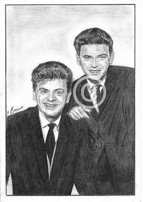 The Everly Brothers Pencil Portrait