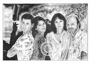 The Manhattan Transfer Pencil Portrait