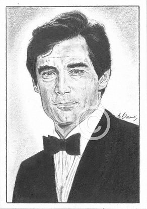 Timothy Dalton Pencil Portrait