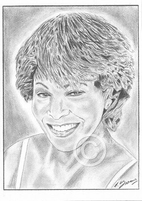 Tina Turner Pencil Portrait