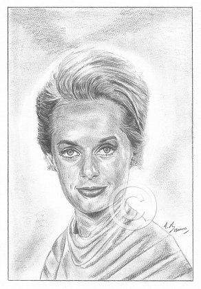 'Tippi' Hedren Pencil Portrait