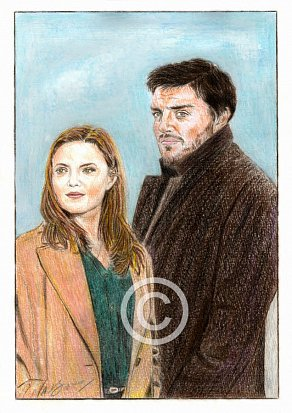Tom Burke & Holliday Grainger Pencil Portrait