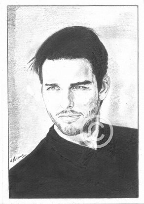 Tom Cruise Pencil Portrait