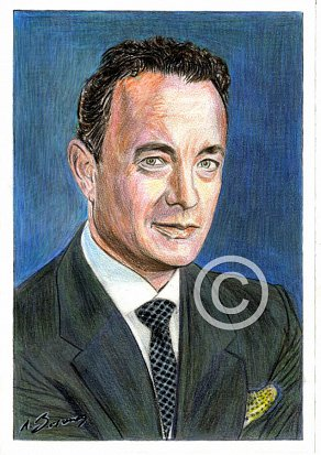 Tom Hanks Pencil Portrait