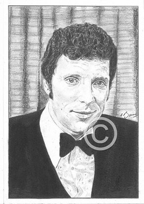 Tom Jones Pencil Portrait